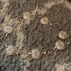 Accessories - Silver metal belt